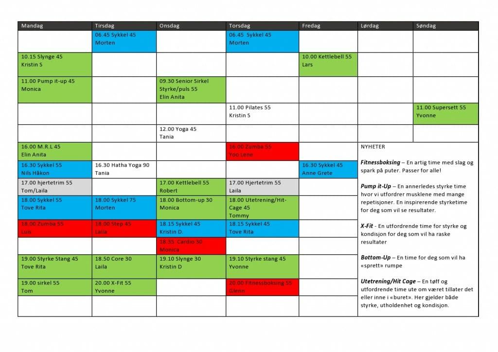 Timeplan Kjeller April-juni 2016-page0001