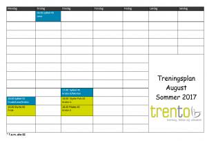 timeplan august